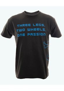 Three Legs Two Wheels One Passion T-Shirt Slate/Blue