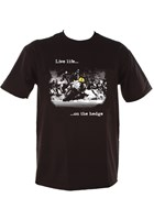 Live Life on the Hedge Joey Dunlop (Duke) T-Shirt Black