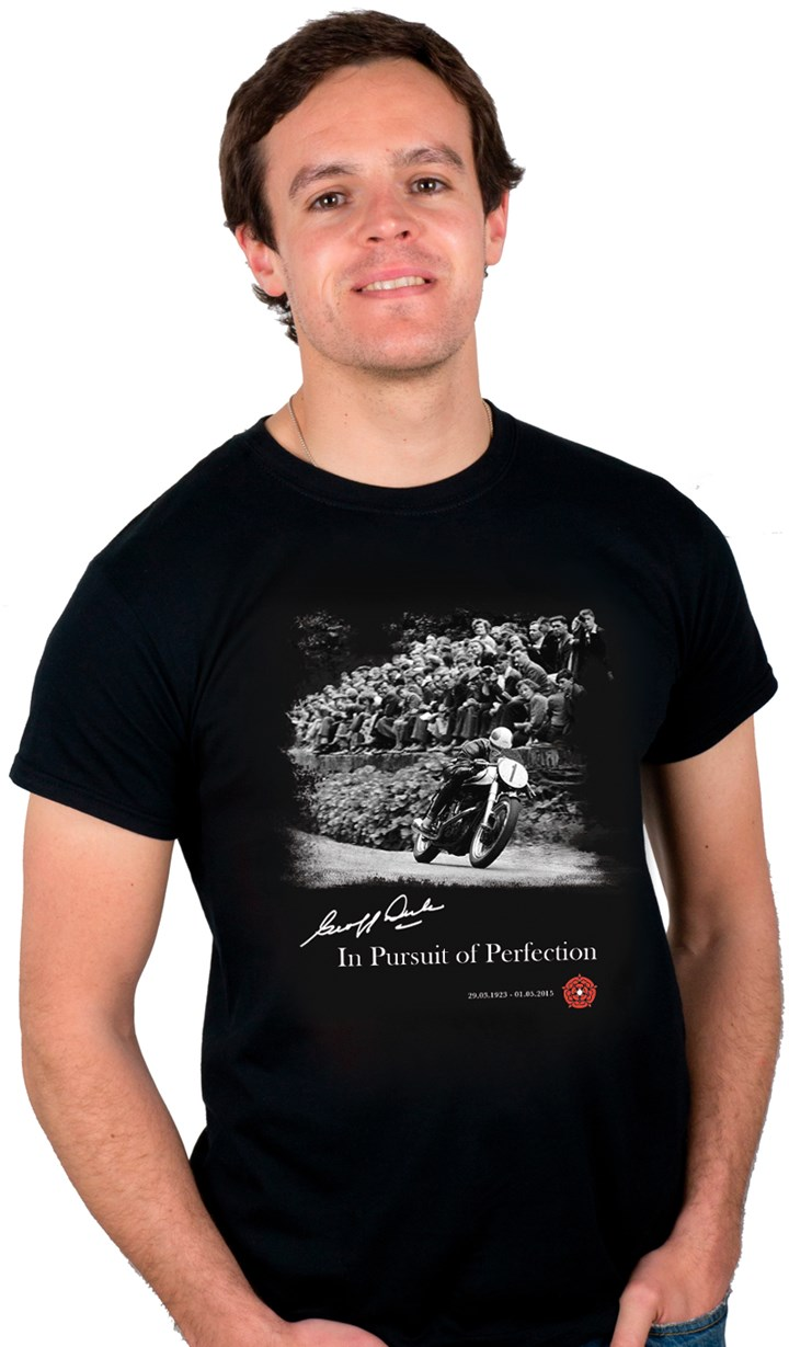 Geoff Duke: In Pursuit of Perfection T-Shirt - click to enlarge