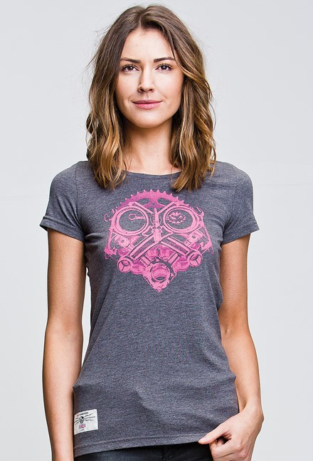 Petrolhead (Ladies) Graphite T-Shirt - click to enlarge