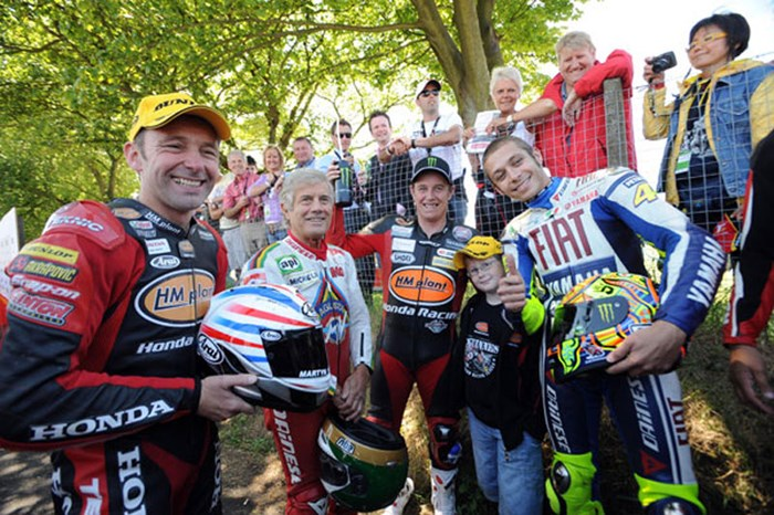Rossi, McGuinness, Agostini & Plater TT2009  - click to enlarge