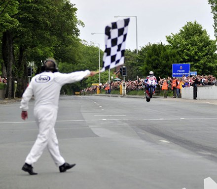 John McGuinness TT 2011 Superbike Chequered Flag - click to enlarge