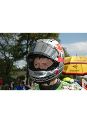 Dan Kneen TT 2011 in Helmet