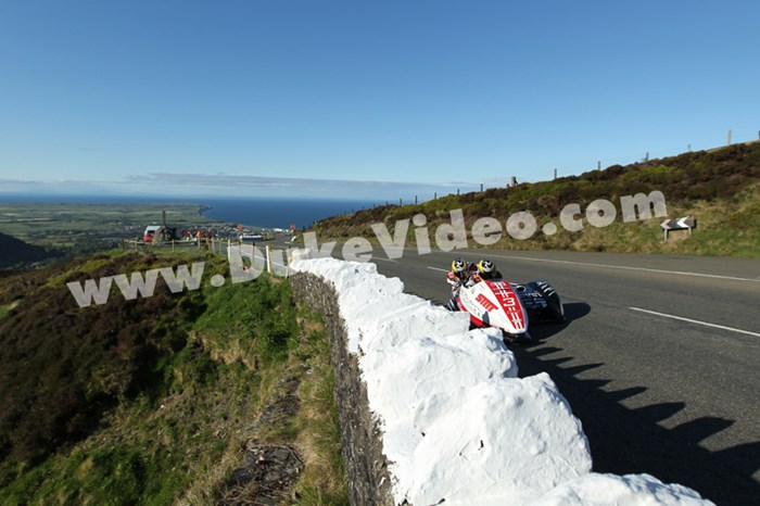 Tim Reeves and Dan Sayle climb the Mountain, TT 2013 - click to enlarge