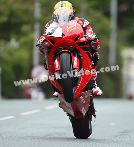 John McGuinness Joey Dunlop tribute TT 2013 - click to enlarge