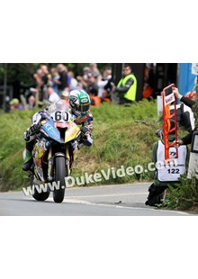TT 2014 Peter Hickman checks his board
