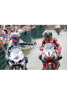 Guy Martin and John McGuinness Isle of Man TT 2014