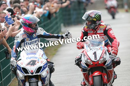 Guy Martin and John McGuinness Isle of Man TT 2014 - click to enlarge