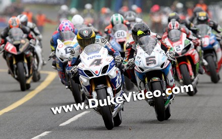 Guy Martin and Bruce Anstey Ulster Grand Prix 2014. - click to enlarge