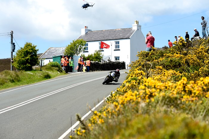 Ian Hutchinson TT 2015 Kates Cottage Print - click to enlarge