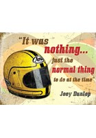 Joey Dunlop Helmet Metal Sign