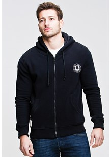 Ace Cafe Ton Up  Zipped Hoodie Black