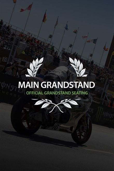 TT 2018 Main Grandstand Ticket - click to enlarge