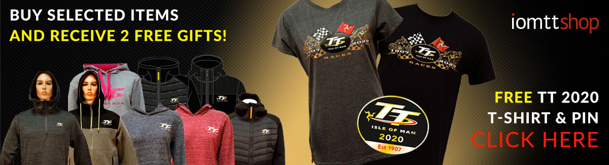 Buy a selected TT hoodie and receive a free T-shirt AND 2020 pin badge