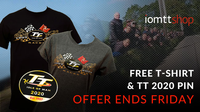 Offer ends Friday: get a FREE TT T-shirt when you buy a selected official Isle of Man TT Races hoodie